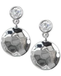 Judith Jack | Metallic Silver-tone And Cubic Zirconia Earrings | Lyst