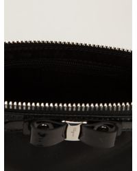 Ferragamo - Black 'Vara' Bow Makeup Case - Lyst
