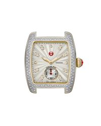 Michele - Metallic 'urban Mini Diamond' Two-tone Watch Case - Lyst