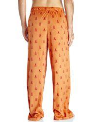 Psycho Bunny - Orange Logo Velour Pajama Pants for Men - Lyst