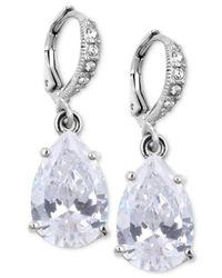 Givenchy Metallic Crystal Teardrop Earrings