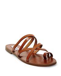 Steve Madden Brown Antler Leather Sandals