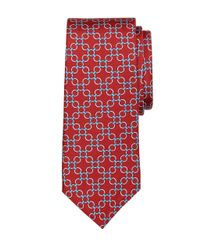 Brooks Brothers | Red Connect Link Circle Print Tie for Men | Lyst