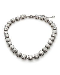 J.Crew | Metallic Swarovski Crystal Necklace | Lyst