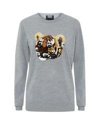 Markus Lupfer Multicolor Tiger Cub Sequin Sweater