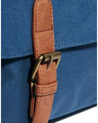ASOS - Blue Satchel with Contrast Straps for Men - Lyst
