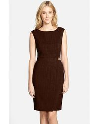 Ellen Tracy | Brown 'Kenya' Dress | Lyst