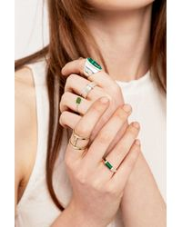 Urban Outfitters - Metallic Green Stone Ring Pack - Lyst