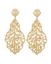 Kendra Scott | Metallic Pave Cz Branch Hourglass Earrings | Lyst