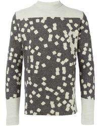 Stephan Schneider Gray Tiles Jacquard Sweater for men