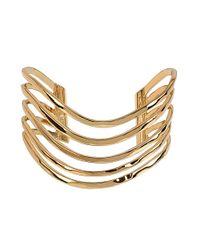 Robert Lee Morris | Metallic Spiral Jetty Hammered Multi-row Cuff Bracelet | Lyst