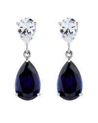 Carat* | Blue 2.5ct Sapphire Pear Drop Earrings | Lyst