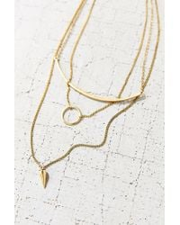 Urban Outfitters | Metallic Kate Layering Necklace | Lyst