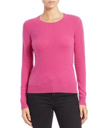 Lord & Taylor | Purple Cashmere Crewneck Sweater | Lyst