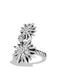 David Yurman Metallic Starburst Open Ring With Diamonds