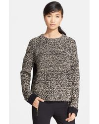 Rag & Bone | Gray 'rue' Merino Wool Blend Pullover | Lyst