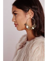 Missguided - Metallic Layered Star Hoops - Lyst