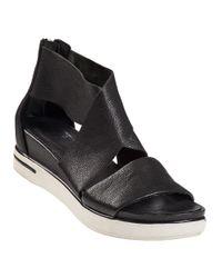Eileen Fisher | Sport Platform Sandal Black Leather | Lyst