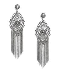 R.j. Graziano | Metallic Diamond Shaped Chandelier Earrings | Lyst