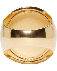 Versus | Metallic Gold Lion Crest Ring | Lyst