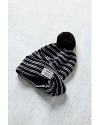 Reason - Black Waffle Knit Field Beanie - Lyst