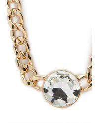 Forever 21 Multicolor Faux Gemstone Pendant Necklace