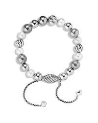 David Yurman - Metallic Dy Elements Bracelet with Pearls - Lyst