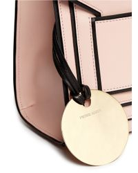 Pierre Hardy Pink Colourblock Piping Leather Bag
