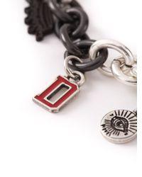 DIESEL - Metallic 'araf' Bracelet - Lyst