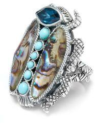 Stephen Dweck | Metallic Large Silver Scarab Ring | Lyst
