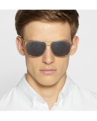 Saint Laurent - Metallic Classic 13 Squareframe Metal Sunglasses for Men - Lyst