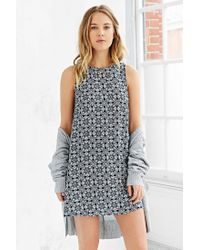 Glamorous - Blue Boho Print Shift Dress - Lyst