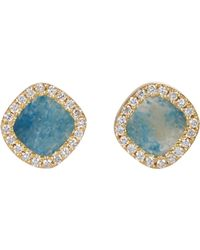 Monique Péan | Metallic Diamond & Black Agate Stud Earrings | Lyst