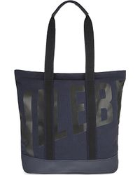 Vilebrequin | Blue Bertrand Cotton & Leather Beach Bag for Men | Lyst