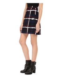 Marc By Marc Jacobs - Blue Chalky Tartan Crepe Fold Skirt - Lyst