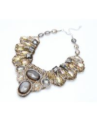 Nakamol   Multicolor Gypsum Couture Necklace-gold Mix   Lyst