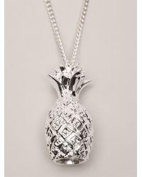 Venessa Arizaga | Metallic Pineapple Necklace for Men | Lyst