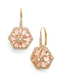 kate spade new york - Pink 'at First Blush' Crystal Drop Earrings - Lyst