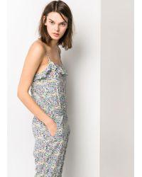 Mango Multicolor Floral Print Jumpsuit