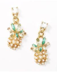 Ann Taylor | Metallic Island Earrings | Lyst