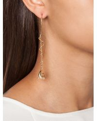 Eddie Borgo - Metallic Pavé Drop Earrings - Lyst
