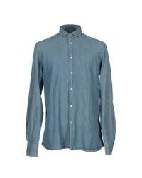 Dondup - Blue Denim Shirt for Men - Lyst