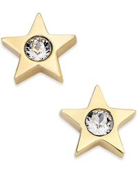 kate spade new york | Metallic Gold-tone Crystal Star Stud Earrings | Lyst