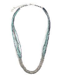 Sandwich - Blue Beaded Necklace - Lyst