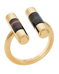 Michael Kors | Metallic Open City Barrel Ring | Lyst