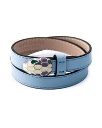 BVLGARI | Blue Double Wrap Snake Bracelet | Lyst