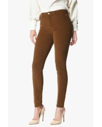 7 For All Mankind Brown High Waist Skinny In Cognac Corduroy