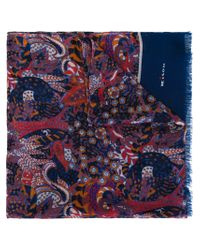 Kiton - Multicolor Paisley Print Scarf for Men - Lyst