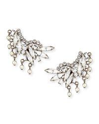 DANNIJO | Metallic Clarissa Crystal & Pearly Clip Earrings | Lyst