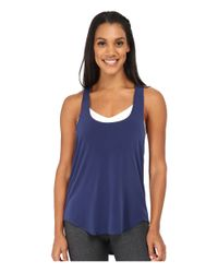 Onzie | Blue Elastic Back Tank Top | Lyst